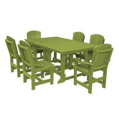 Heritage 7 Piece Dining Set Finish: Lime Green