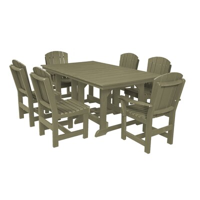 Heritage 7 Piece Dining Set Finish: Olive