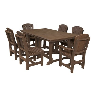 Heritage 7 Piece Dining Set Finish: Tudor Brown