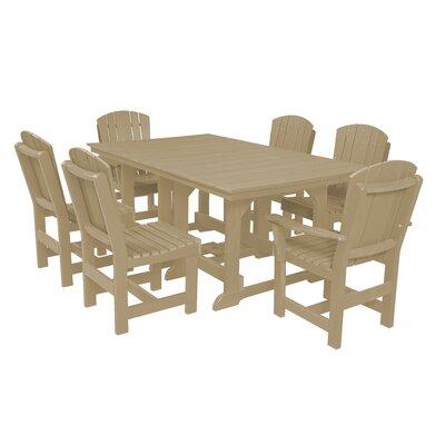 Heritage 7 Piece Dining Set Finish: Weathered Wood