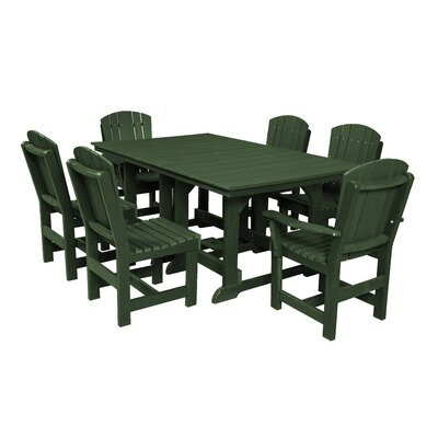 Heritage 7 Piece Dining Set Finish: Turf Green