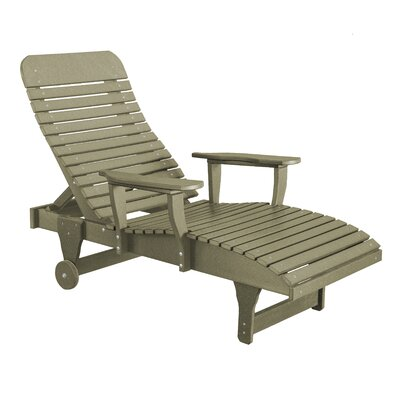 Heritage Chaise Lounge Color: Olive