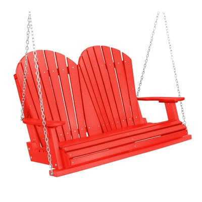 Heritage Heritage Porch Swing Color: Red/Black