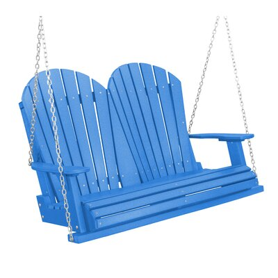 Heritage Heritage Porch Swing Color: Blue