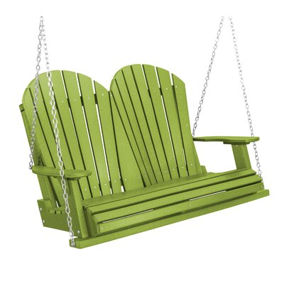 Heritage Heritage Porch Swing Color: Lime Green/Black