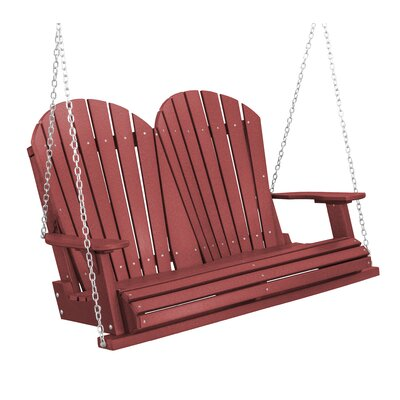 Heritage Heritage Porch Swing Color: Cherry Wood