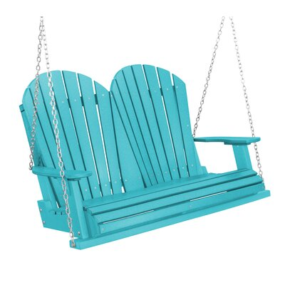 Heritage Heritage Porch Swing Color: Aruba Blue