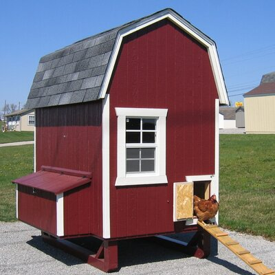 Daria Gambrel Barn Chicken House with Nesting Box and Ramp