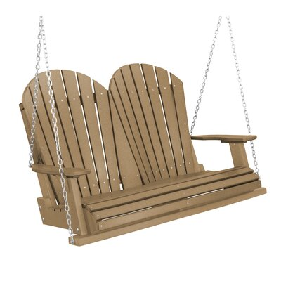 Heritage Heritage Porch Swing Color: Weathered Wood/Black