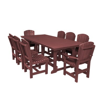 Heritage 9 Piece Dining Set Color: Cherry Wood
