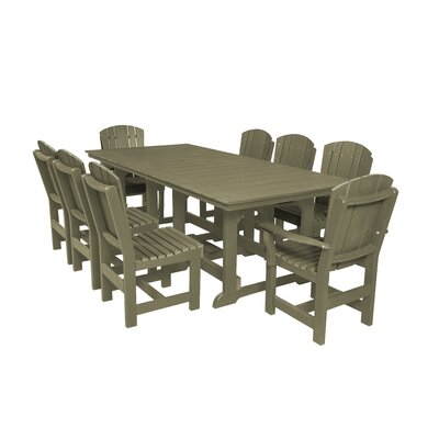 Heritage 9 Piece Dining Set Color: Olive