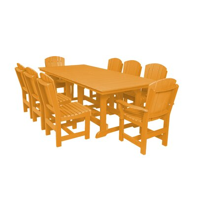 Heritage 9 Piece Dining Set Color: Orange