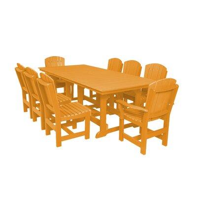 Heritage 9 Piece Dining Set Color: Orange