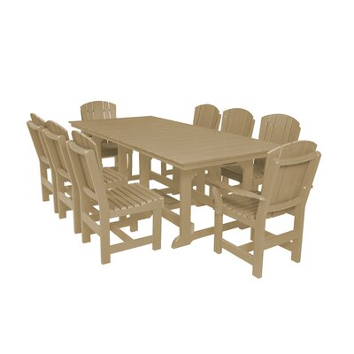 Heritage 9 Piece Dining Set Color: Weathered Wood