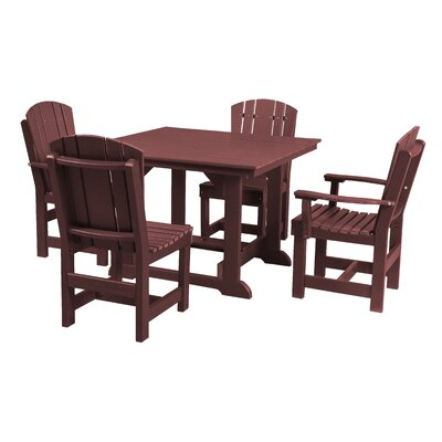 Heritage 5 Piece Dining Set Finish: Cherry Wood
