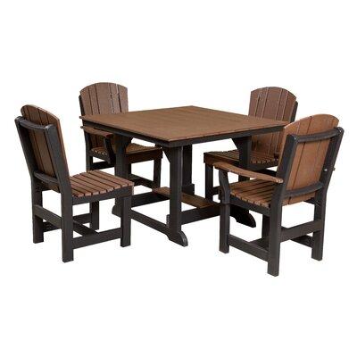 Heritage 5 Piece Dining Set Finish: Tudor Brown/Black