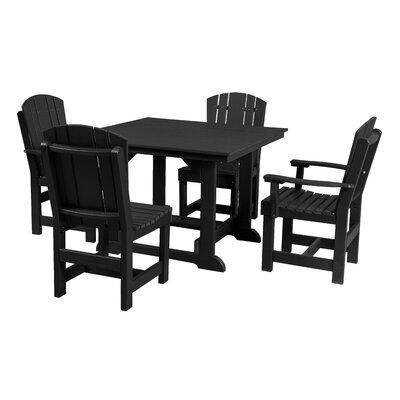 Heritage 5 Piece Dining Set Finish: Black