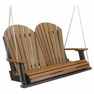 Heritage Heritage Porch Swing Color: Tudor Brown/Black