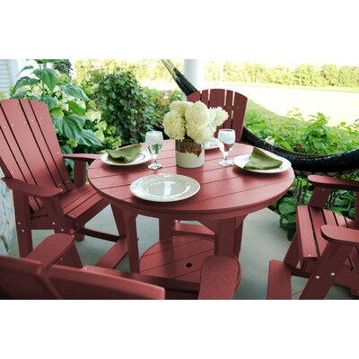5 Piece Dining Table Set Color: Cherry Wood