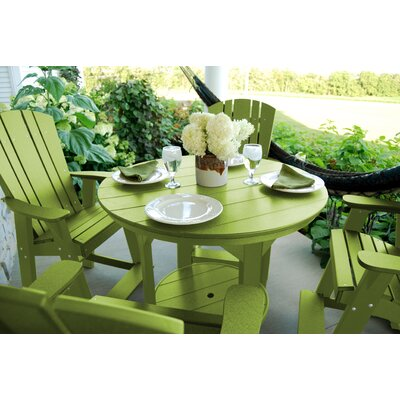 5 Piece Dining Table Set Color: Tropical Lime Green
