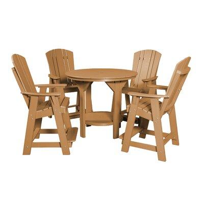 5 Piece Dining Table Set Color: Cedar