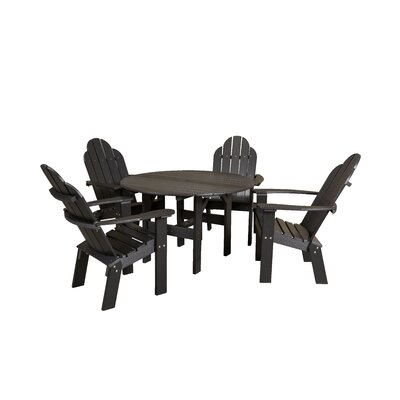 Classic 5 Piece Dining Set Finish: Black