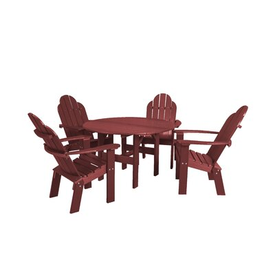 Classic 5 Piece Dining Set Finish: Cherry Wood