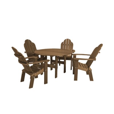 Classic 5 Piece Dining Set Finish: Tudor Brown