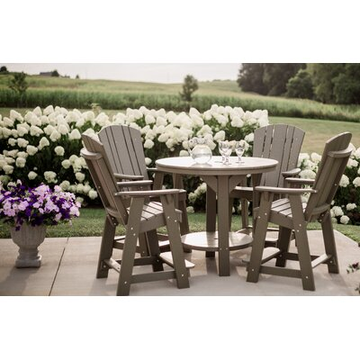 5 Piece Dining Table Set Color: Bright White