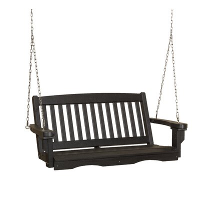 Classic Mission Porch Swing Finish: Black
