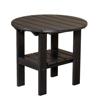Classic Round Side Table Finish: Black