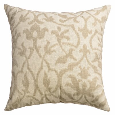 Ezra Heritaged Throw Pillow Color: Natural