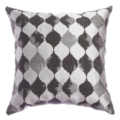 Palatial Teardrop Decorative Throw Pillow Color: Pewter