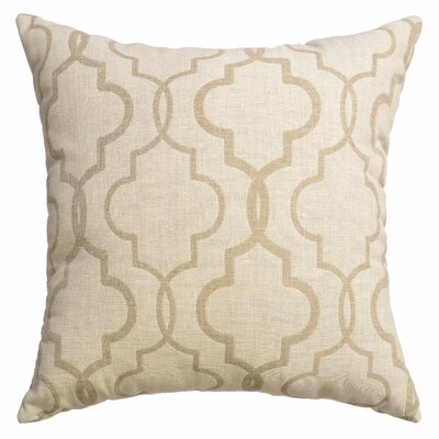 Ezra Tile Throw Pillow Color: Natural