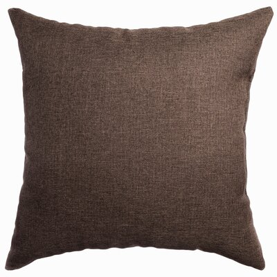 Knipp Throw Pillow Color: Chocolate