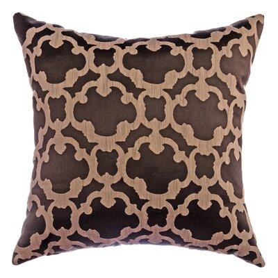 Palatial Tile Decorative Throw Pillow Color: Designer Brown