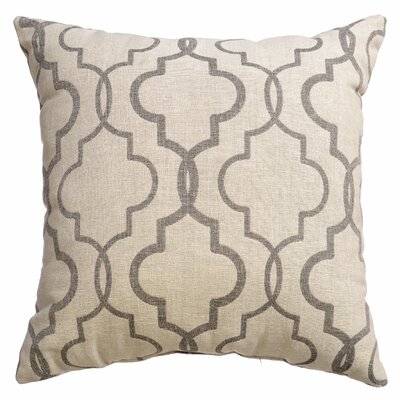 Asheville Tile Square Throw Pillow Color: Pewter