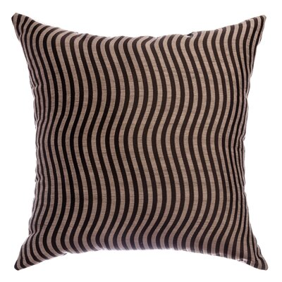 Palatial Wave Stripe Decorative Throw Pillow Color: Designer Brown