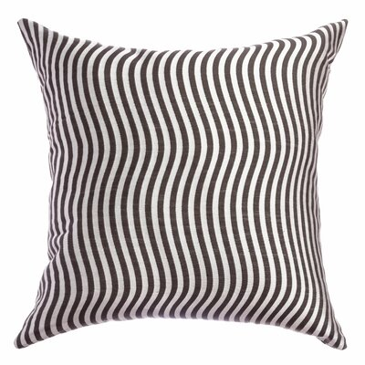 Palatial Wave Stripe Decorative Throw Pillow Color: Designer Grey