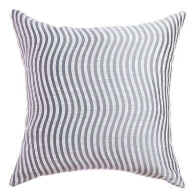 Palatial Wave Stripe Decorative Throw Pillow Color: Ocean