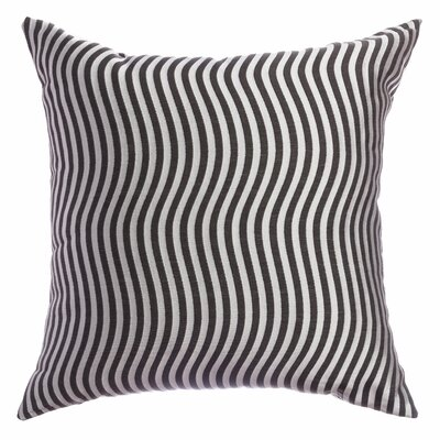 Palatial Wave Stripe Decorative Throw Pillow Color: Pewter