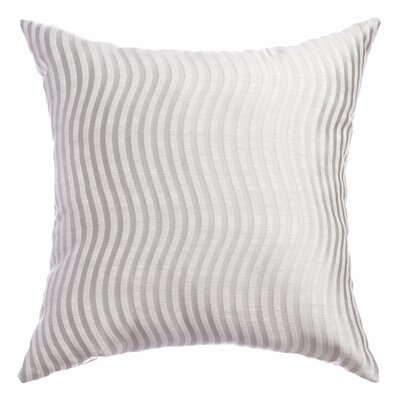 Palatial Wave Stripe Decorative Throw Pillow Color: White