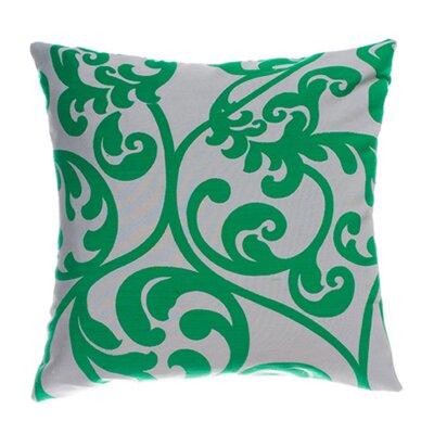Karaj Throw Pillow Color: Peacock Green