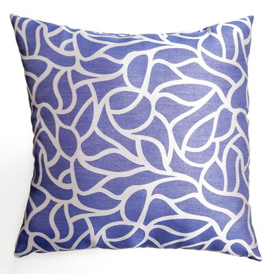 Basra Throw Pillow Color: Blue Violet