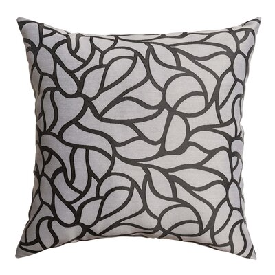 Basra Throw Pillow Color: Charcoal