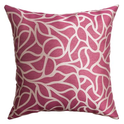 Basra Throw Pillow Color: Flamingo Pink