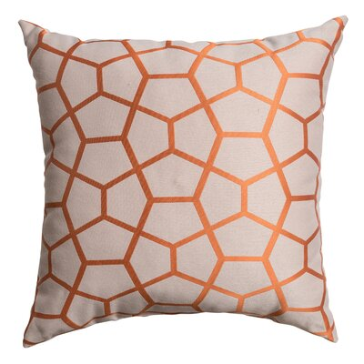 Dimas Throw Pillow Color: Orange