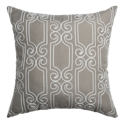 Bexley Throw Pillow Color: Gray White