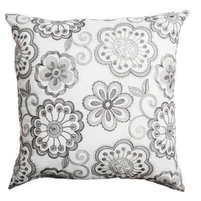 Estero Throw Pillow Color: Dark Silver