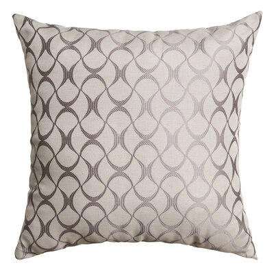Hechi Throw Pillow Color: Silver
